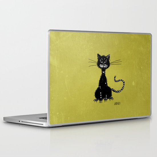 Ragged Evil Black Cat Laptop & iPad Skin