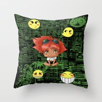 Chibi Edward Throw Pillow