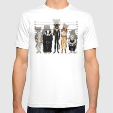 Unusual Suspects SMALL White Mens Fitted Tee