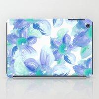 Turquoise Florals iPad Case