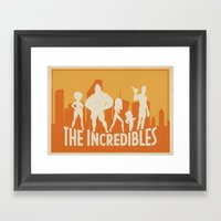 The Incredibles Movie Po… Framed Art Print