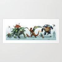 -Venusaur-Charizard-Blas… Art Print