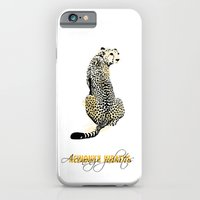 iPhone & iPod Case featuring acinonyx jubatus by VALENTINA MAGRO