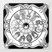 Chinese Zodiac Canvas Print