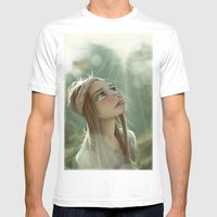 Morning Sunlight Mens Fitted Tee White SMALL