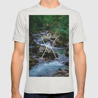 Paleolitic Mens Fitted Tee Silver SMALL