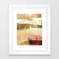 Without Care Like Birds Framed Art Print