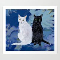 Kingston and Midnight Art Print