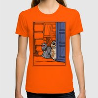 BBK-9 Womens Fitted Tee Orange SMALL