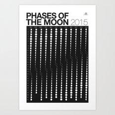 2015 Phases of the Moon Calendar Art Print