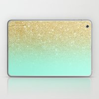 Modern Gold Ombre Mint G… Laptop & iPad Skin