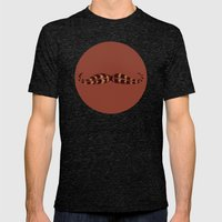 Feather Mustache Mens Fitted Tee Tri-Black SMALL
