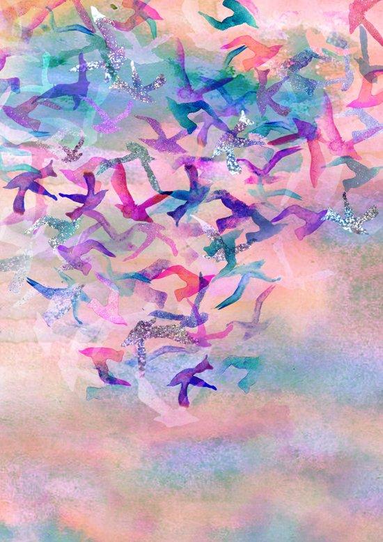 Birds Flight Home  Art Print