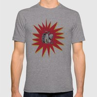 Drum Kit Mens Fitted Tee Athletic Grey SMALL