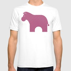 Fun at the Zoo: Zebra SMALL Mens Fitted Tee White