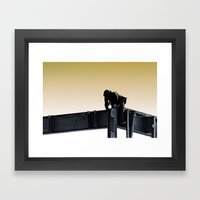 Steel Worker Framed Art Print