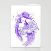 kiss Stationery Cards featuring Kiss by Andrea Hrnjak