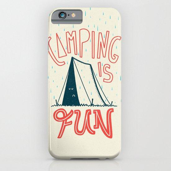 Camping Is Fun iPhone & iPod Case
