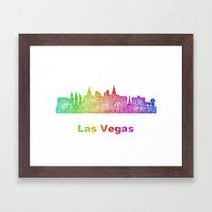 Rainbow Las Vegas skyline Framed Art Print