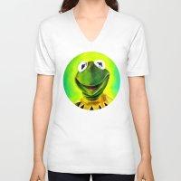 The Muppets- Kermit the Frog Unisex V-Neck