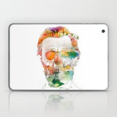 Abraham (Abe) Lincoln Skull Watercolor Laptop & iPad Skin