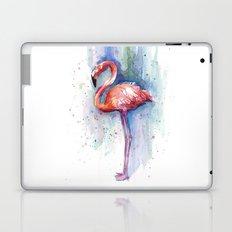 Pink Flamingo Watercolor Painting Laptop & iPad Skin
