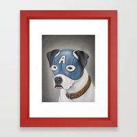 Captain America (American Bulldog) Framed Art Print