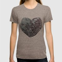 Heart Graphic 4 Womens Fitted Tee Tri-Coffee SMALL