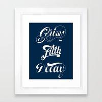 Grimey Type. Framed Art Print