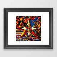 Intermixing Color Star  Framed Art Print