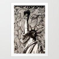 Lady Liberty Got Nothing… Art Print