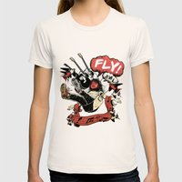FLY! Womens Fitted Tee Natural SMALL