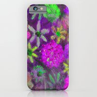 Hot Fuschia PINK and Lime  Flower Power iPhone 6 Slim Case