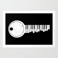 The KEYboard Art Print