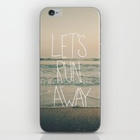 Let's Run Away By Laura … iPhone & iPod Skin