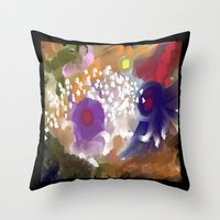 Into The Circles  Throw Pillow