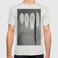 Elipses Mens Fitted Tee Silver SMALL