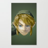Canvas Print featuring Triangles Video Games He… by S2lart