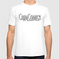 CrimComics Mens Fitted Tee White SMALL