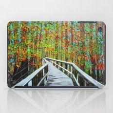 Walkway  in the woods  iPad Case
