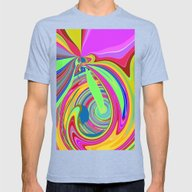 Re-Created  Sour Candy 8… Mens Fitted Tee Tri-Blue SMALL