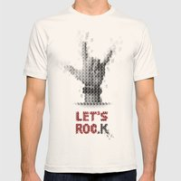 Let's ROCK Mens Fitted Tee Natural SMALL