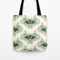 Moth With Plants Tote Bag