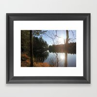 Lake I Framed Art Print
