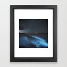 Fracture in Winter Lake Framed Art Print