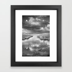 Before the big storm Framed Art Print