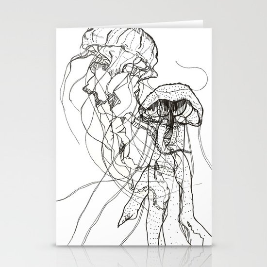 Jellyfishes Stationery Card