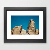 Sad Rock Framed Art Print