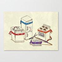 Teenage Mutant Ninja Kitchen Appliances Canvas Print