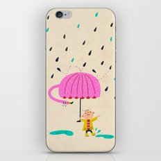 one of the many uses of a flamingo - umbrella iPhone & iPod Skin